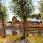 Les peupliers - Moret-sur-Loing - Alfred Sisley